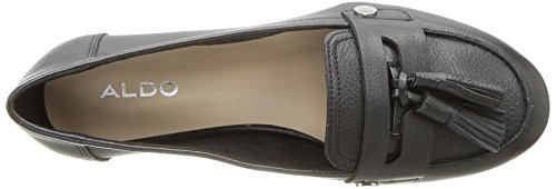 ALDO Womens Yeliviel Slip-on Loafer, Black Leather, 11 B US