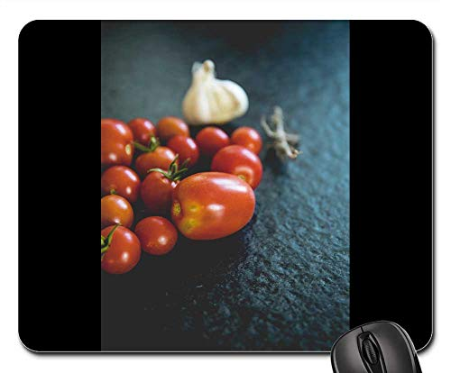 Mouse Pad - Tomatoes Vegetables Datailaufnahme Food Garden Red 2