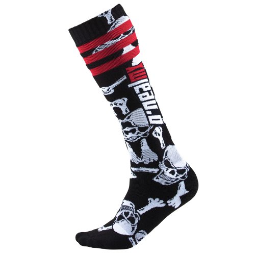 O'Neal Pro MX Socken Crossbones schwarz weiss Motocross Socken, 0356C-609