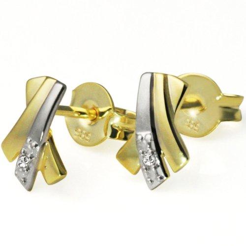 Goldmaid - Pa O2969BI - Boucles d'Oreilles Femme - Or jaune 585/1000 (14 carats)