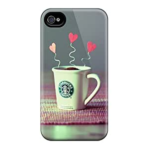 High-end Case Cover Protector For Iphone 4/4s(starbucks Creative Beauty Hd)
