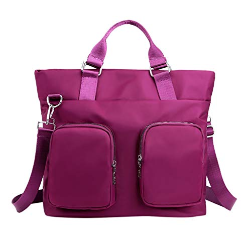 Multi Junior Handbags - Gogoodgo Women's Retro Sling Shoulder Bag Waterproof Nylon Stylish Ladies Messenger Bags Purse and Handbags Purple