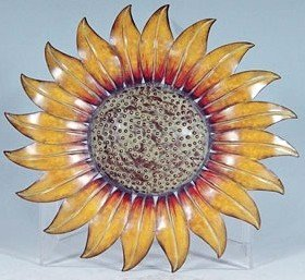 Metal decorative 14 sunflower wall plaque for Plaque metal deco pour mur
