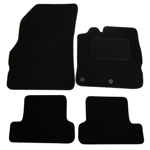 JVL Fully Tailored Car Mats with 2 Clips - Black, 4 Pieces 1239