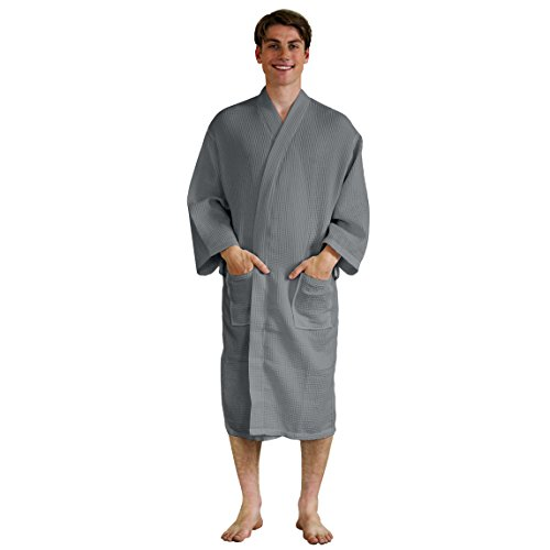 Thatcher Lane Waffle Lightweight Bathrobe
