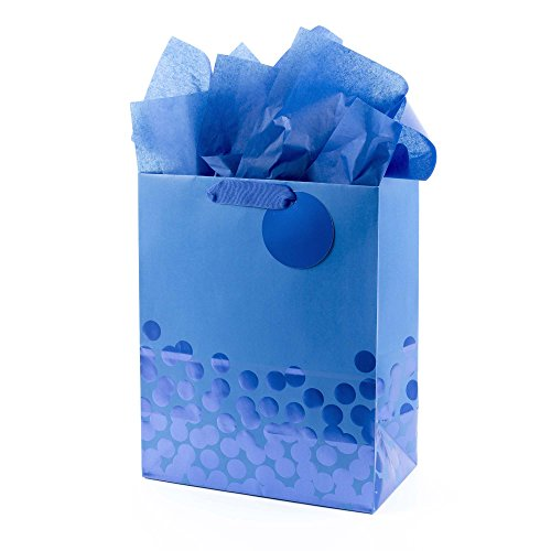 Hallmark Large Gift Bag with Tissue Paper (Blue (Large Paper Doll)