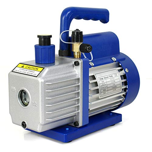 A/c Compressor Free Oil (Air Refrigerant Conditioning 3,5 CFM Rotary Vane Vacuum Pump 1/4HP HVAC R134a)