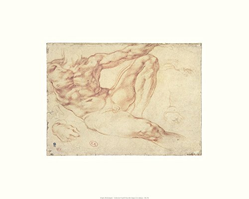 Male Nude Art Print, 20 x 16 inches