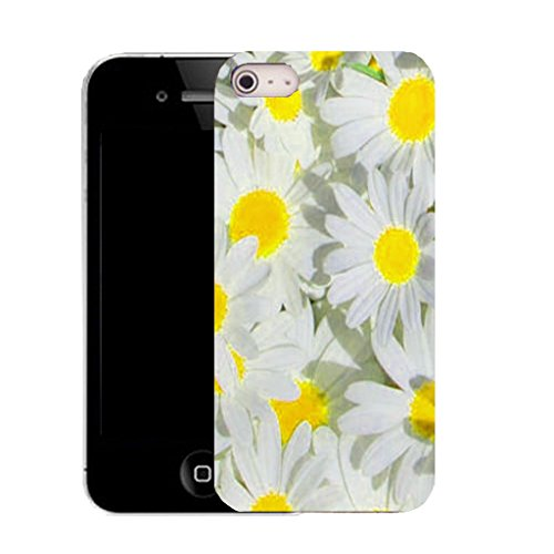 Mobile Case Mate IPhone 4 4S clip on Dur Coque couverture case cover avec Stylet - yellow bunched daisy Motif