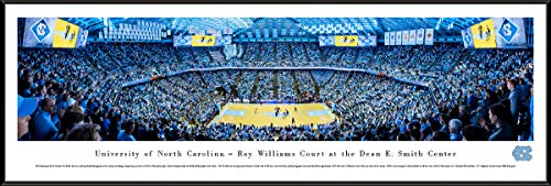 (North Carolina Basketball - 40.25x13.75-inch Standard Framed Picture by Blakeway Panoramas)