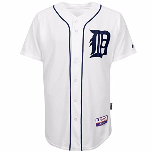 "Detroit Tigers Authentic Home Jersey (Detroit Tigers Home White Authentic Cool Baseâ""¢ On-Field MLB Jersey)"