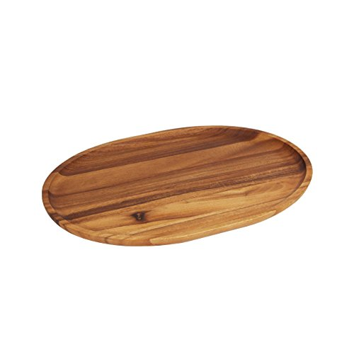Woodard & Charles Medium Acacia Oval Tray, (Medium Oval Plate)