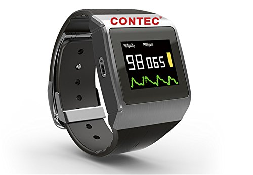 Bluetooth CMS50K Wearable pedometer Sporting Wireless SpO2 Monitor Wrist Color Pulse Oximeter wellness,PGJ with SPO2 Probe (not compatible with Mac) by Contec