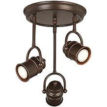 Design House 578054 Sheridan 3-Light LED Directional Ceiling Light, Oil Rubbed Bronze