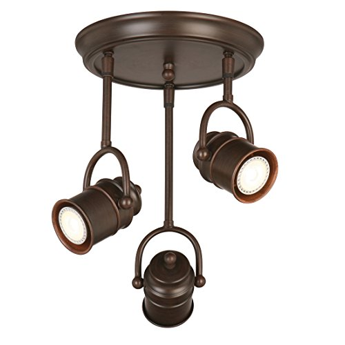 Design House 578054 Sheridan 3-Light LED Directional Ceiling Light, Oil Rubbed Bronze by Design House