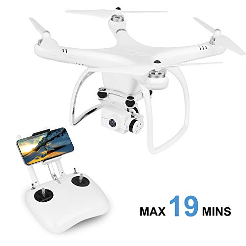 UPAIR One Plus 2.7K Drone with Camera for Adults, Quadcopter with APP WiFi Transmission, GPS Auto Return Home, Headless Mode, Altitude Hold Functions
