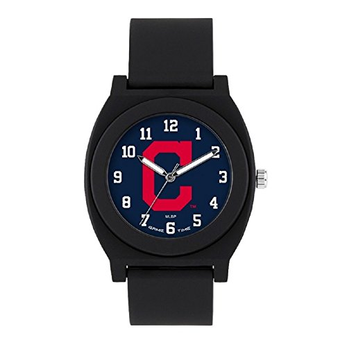 Series Cleveland Fan Indians - Game Time MLB- Cleveland Indians Fan Black Series Watch, Black, 39.50mm