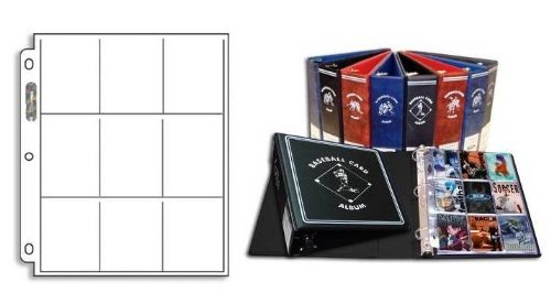(Black Combo - BCW Collector's Value Pack: One FOOTBALL Collector D-Ring Binder (Album) with 25 9-Pocket Pages (Acid Free Pages) For Football Cards - BLACK ALBUM)