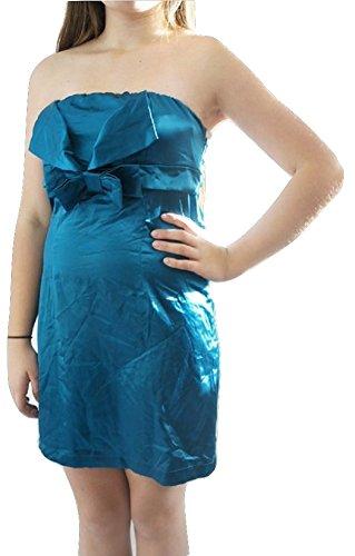 TopshopDamen Kleid, Einfarbig Blau Teal Blue