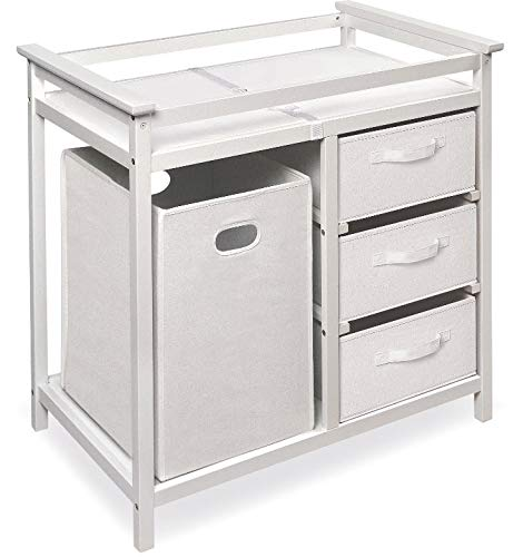 Modern Changing Table with 3 Baskets and Hamper – Color Espresso