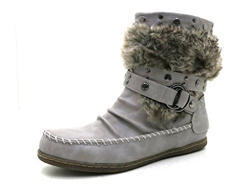 Femme Pour bottines Mustang chaussures Clair Gris 0Ugx61qw