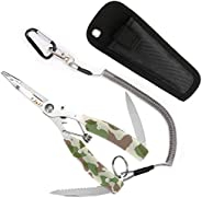 SupreGear Camouflage Pattern Multi-Functional Lightweight Stainless Steel Fishing Plier Hook Remover Tool with