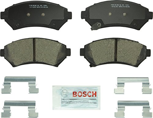 Bosch BC699 QuietCast Premium Ceramic Disc Brake Pad Set For Select Buick Century, LeSabre; Cadillac Seville; Chevrolet Impala, Monte Carlo; Oldsmobile Intrigue; Pontiac Grand Prix + More; Front ()