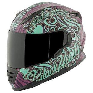 Teal Motorcycle Helmet - 5