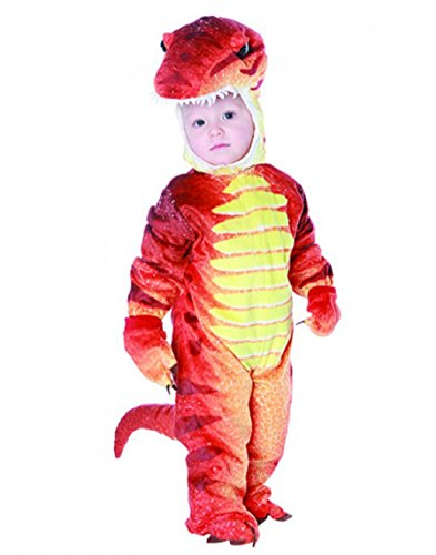 [Underwraps Costumes Baby's T-Rex Costume Jumpsuit, Rust, Small (6-12 Months)] (Child Rust T-rex Costume)
