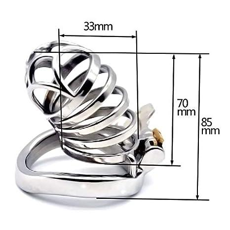 XUDONG Cerradura de castidad Super Largo párrafo Chaff Persiguiendo Cerradura Acero Inoxidable Serie SM Diamante,50mm: Amazon.es: Hogar