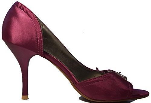 3-W-Hohenlimburg Women's Peep-Toe Purple MZ37XWRea