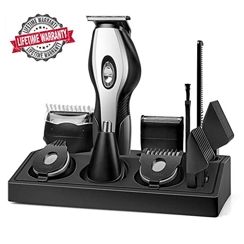 Beard Trimmer,【Upgrade Version】MANLI Men Beard Trimmer Kit with Stand Waterproof 11 in 1 Multifunctional Grooming Set with Hair Clipper Trimmer, Shaver, Precision Trimmer, Nose Trimmer, Body -
