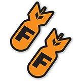 F Bombs Orange Set of 2 Vinyl Sticker - Car Phone