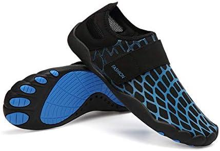 屋外のビーチの靴男性と女性のダイビングシューズ夏の新しいカップルの水泳シューズ水遊び水の靴(ブルー) ポータブル (色 : Blue, Size : US8)
