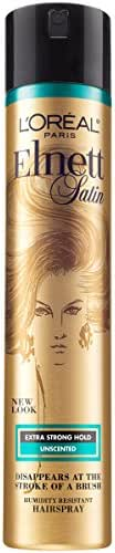 L'Oreal Paris Elnett Satin Hairspray Extra Strong Hold Unscented 11 oz. (Packaging May Vary)