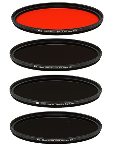 Bear Claw Industries 82mm Infrared Filter Set (590nm+665nm+720nm+850nm) by Bear Claw Industries