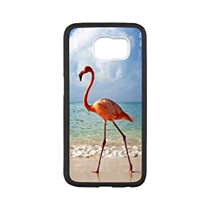 Samsung Galaxy S6 Cell Phone Case Black BE A FLAMINGO IN A FLOCK OF PIGEONS VIU929870
