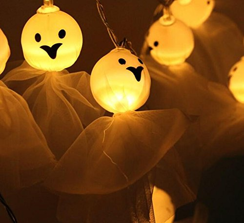 KathShop LED Light Halloween Ghost Fairy 3M 20 LED String Light Skull Garland Halloween Party Festival Decortation 2017 -