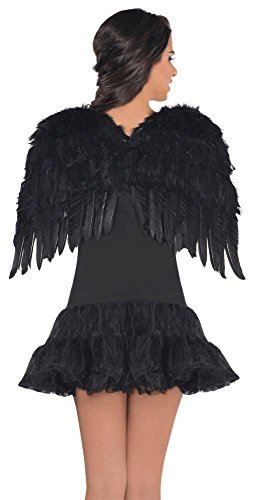 [Amscan Black Feather Wings (Ages 14+)] (Dark Fairy Wings Costume)