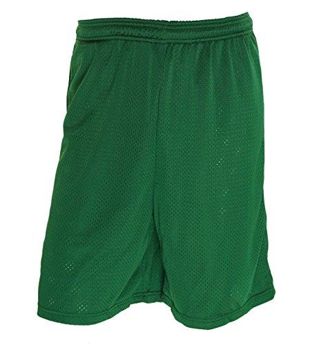 (Wilson Men's Mesh No Pocket Athletic Shorts Green Small)