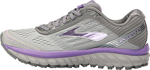 Brooks Womens Ghost 9 Running Shoes Grey/Primer Grey/Lilac