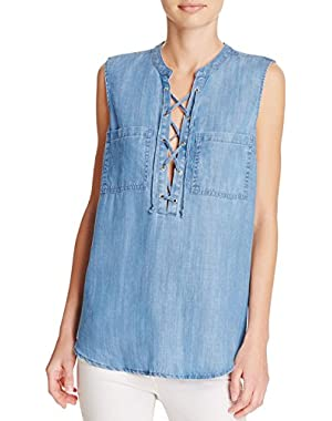 Guess Ashlee Lace-Up Shirt