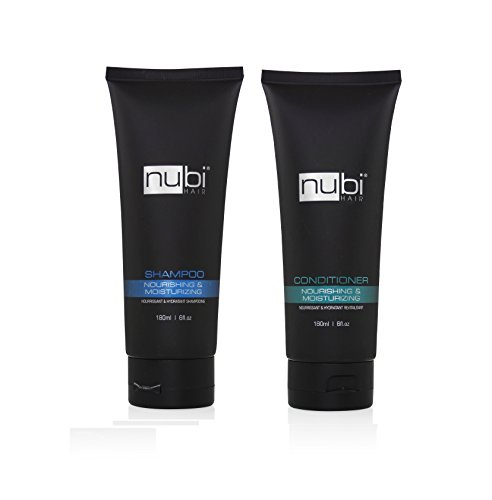 (Nubi Moisturizing Shampoo and Conditioner 2 in 1 Combo Set, 180 Ml / 6 Fl. Oz)