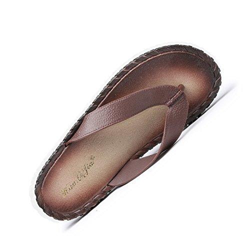 Elegante, Comoda, Casual, Spiaggia Calma Le Pantofole, Il Pvc Unico Infradito, Gli Uomini Le Pantofole,Brown,Eu41