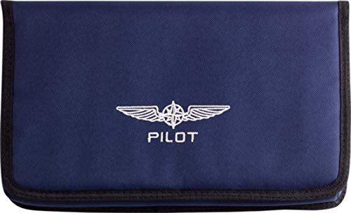 a32331b7238 DESIGN 4 PILOTS Aviation Pilot Document Pouch DOCUBAG in Blue, Aviation  documents Holder for vfr