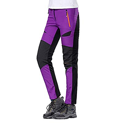 Orangeskycn Women Waterproof Windproof Outdoor Hiking Warm Pants Trousers