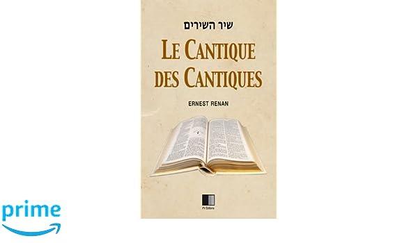 Le cantique des cantiques french edition ernest renan