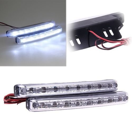 2x Car Daytime Running Light 8LED DRL Fog Driving Daylight Super - 1