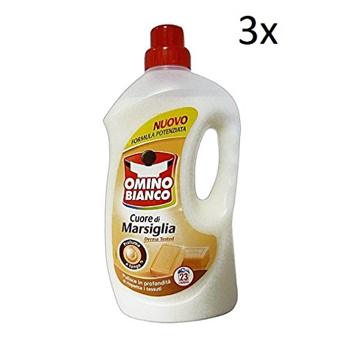 3x Omino Bianco Marseille Fabric Clothes Detergent Cleaner DegreaserCleaner 1, 495l 23 Washes! Derma Tested!
