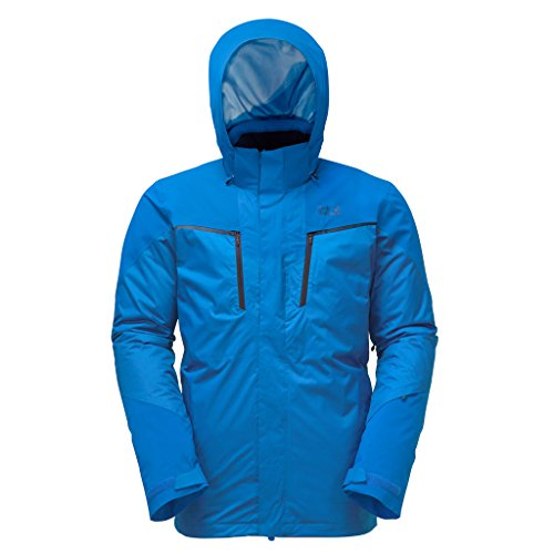 Jack Wolfskin Men's ICY Storm Jacket, Azure Blue, Large (Men Jack Ski Wolfskin Jacket)